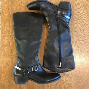 Vince Camino Brunah Tall Leather Riding Black Boot
